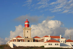 Lighthouse Of Cabo Da Roca, West Coast Of Portugal Royalty Free Stock Photo