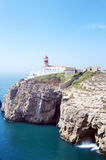 Lighthouse Of Cabo Sao Vicente, Algarve Royalty Free Stock Image