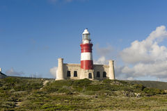 Lighthouse Of Cape Agulhas, South Africa. Royalty Free Stock Images