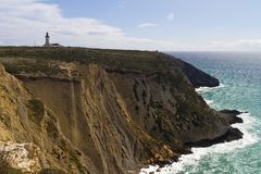 Lighthouse Of Cape Espichel Royalty Free Stock Photography