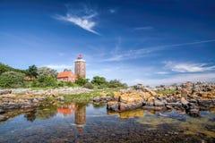 Lighthouse Of Svaneke Stock Images