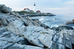 Lighthouse off the coast of the United States. Lighthouse off the coast of the United States, Tourist destinations, foreign Stock Photo