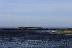 Lighthouse off Fort Popham Stock Photography