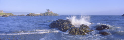 Lighthouse off Front Street, Crescent City, California Royalty Free Stock Image