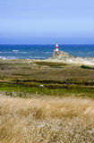 Lighthouse. Old lighthouse on the coast of the island Mocha, the biobio region. Chile Royalty Free Stock Images