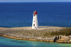 Lighthouse. Old lighthouse that sits on the tip of Paradise Island, Bahamas Royalty Free Stock Photography