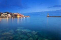 Lighthouse of the old Venetian port in Chania. Crete. Greece Royalty Free Stock Photography