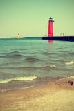 Lighthouse On Lake Michigan Royalty Free Stock Image