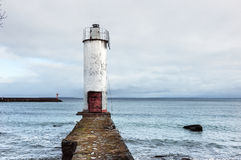 Lighthouse On Pier Royalty Free Stock Image