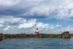 Free Lighthouse On The Rocky Island Of The Farne Islands Royalty Free Stock Photo - 166651305