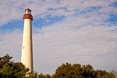 Lighthouse and Open Sky Stock Photos