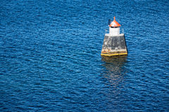 Lighthouse in the Oslofjord Royalty Free Stock Images
