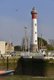 Lighthouse of Ouistreham in France Stock Photography
