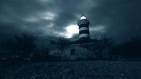 Lighthouse Over Clouds Stock Photos