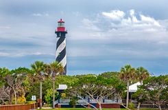 Lighthouse in Saint Augustine royalty free stock photography