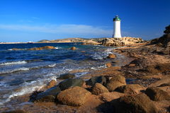 Lighthouse of P.Palau. Lighthouse of Punta Palau in the nord-est of Sardinia Stock Photography
