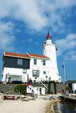 Lighthouse Paard van Marken in afternoon, North Holland, the Netherl Stock Photography