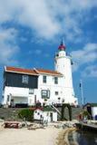 Lighthouse Paard van Marken por tarde, Holanda Septentrional, el Netherl Fotografía de archivo
