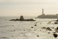 Lighthouse, Pacific coast Royalty Free Stock Images