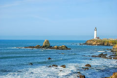 Pigeon Point Lighthouse Located Along The Pacific  Royalty Free Stock Photo