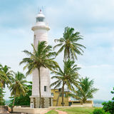 Lighthouse and palm trees Royalty Free Stock Image