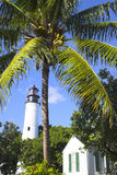Lighthouse and palms Stock Image
