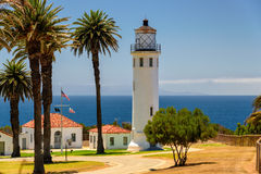 Lighthouse and Palms, Los Angeles, California Stock Photography