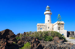 Lighthouse in Pantelleria Royalty Free Stock Photo