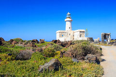 Lighthouse in Pantelleria Royalty Free Stock Photos