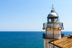 Lighthouse Of Papa Luna Castle In Peniscola Royalty Free Stock Image