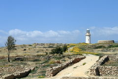 Lighthouse in Paphos Royalty Free Stock Image