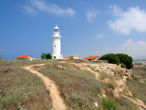 Lighthouse in Paphos Stock Images