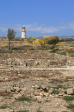 Lighthouse in Paphos Stock Image