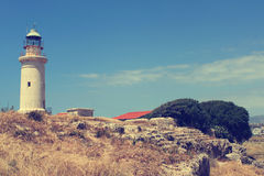 Lighthouse in Paphos Royalty Free Stock Images
