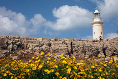 Lighthouse in Paphos, Cyprus Royalty Free Stock Photography