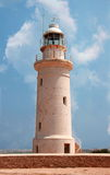 The lighthouse. Paphos, Cyprus Royalty Free Stock Photo