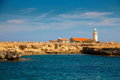 Lighthouse in park Cape Greco, Cyprus Royalty Free Stock Photo