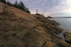 Lighthouse Park. At sunset, North Vancouver, BC, Canada Royalty Free Stock Photo