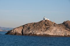 Lighthouse at Paros island Royalty Free Stock Photo
