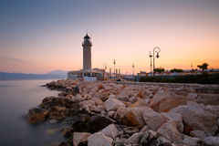 Lighthouse in Patras. Stock Photo