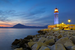 Lighthouse in Patras. royalty free stock photography