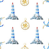 Lighthouse pattern Royalty Free Stock Photography