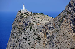 Lighthouse in the peak of the mountain Royalty Free Stock Photos
