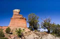Lighthouse Peak in Palo Duro Canyon. State Park in Texas Stock Photography