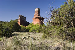 Lighthouse Peak in Palo Duro Canyon. State Park in Texas Stock Photo