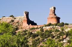 Lighthouse Peak in Palo Duro Canyon Stock Photo