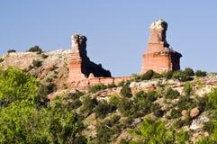 Lighthouse Peak in Palo Duro Canyon Stock Photo