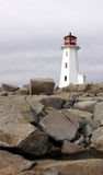 Lighthouse at Peggy's Cove Royalty Free Stock Photos
