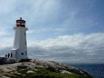Lighthouse at Peggy's Cove. The Lighthouse at Peggy's Cove Royalty Free Stock Images
