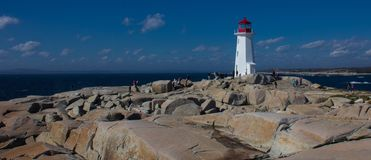 The Lighthouse at Peggy`s Cove royalty free stock photos